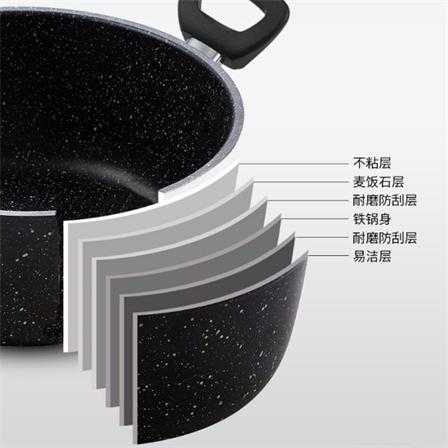 【锅具两件套】不粘锅炒锅汤锅电磁炉通用包邮