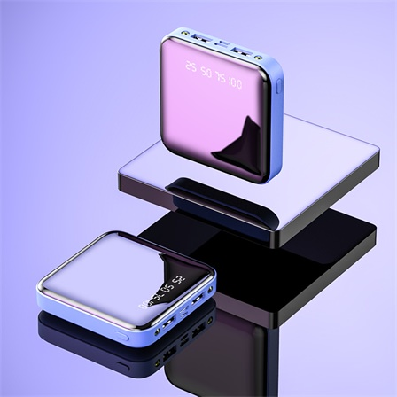 永田禾品 移动电源充电宝双输入输出数显带灯镜面酷炫10000mAh包邮