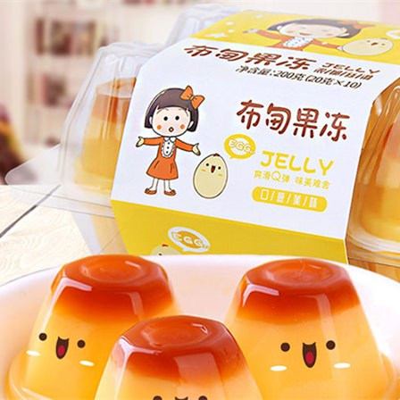 樱桃小丸子200克布甸果冻鸡蛋味(10粒装)盒装