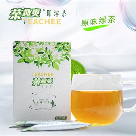 濮仁茶行 茶趣爽即溶茶 茉莉绿茶 原味绿茶速溶茶2种口味 10支/盒