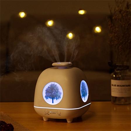 智能定时静音加湿器七彩夜灯创意香薰机包邮