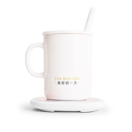 恒温加热水杯发热杯垫时尚智能保温杯二代暖心杯