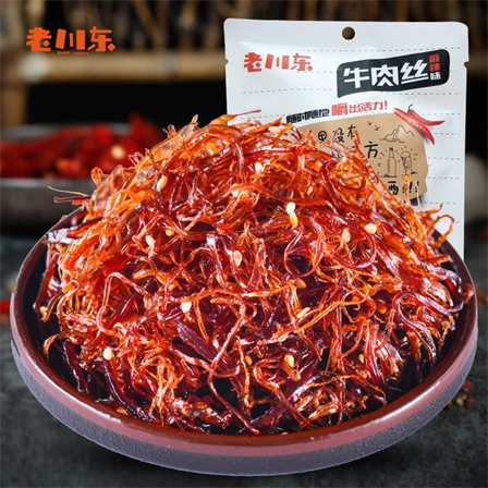 老川东爆款灯影牛肉丝麻辣休闲零食牛肉丝100g/袋