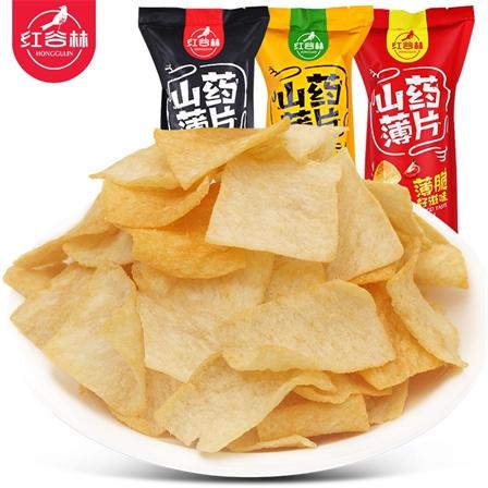 【宣萱代言】红谷林山药薄片薯片90g/袋包邮