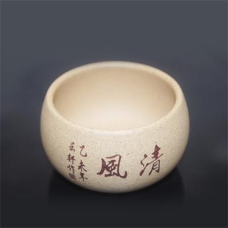 宜兴紫砂品茗杯全手工制作段泥茶杯包邮