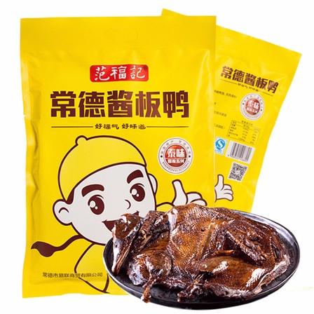 湖南常德特产酱板鸭手撕风干香辣鸭肉熟食280g/袋