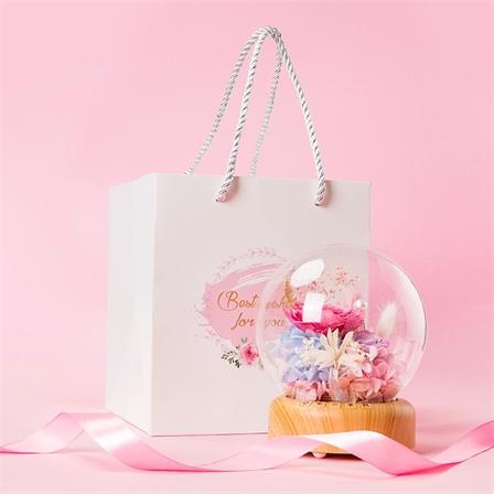 花语传情音乐盒创意礼品许愿流光瓶蓝牙音响灯