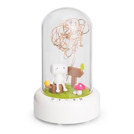 小夜灯充电装饰台灯蓝牙音响 许愿流光瓶-永生花