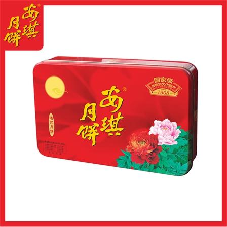 安琪迷你月饼480g蛋黄白莲蓉凤梨水果月饼广式月饼礼盒中秋礼团购