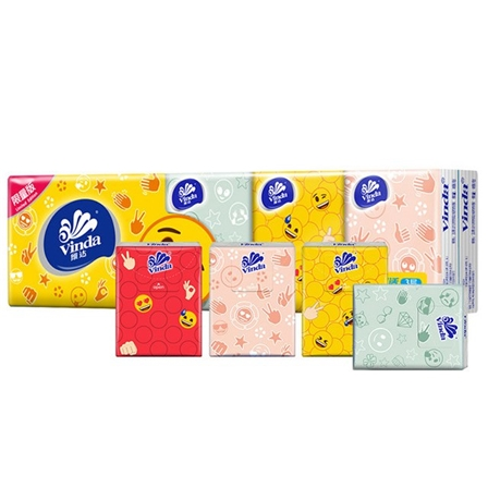 维达手帕纸纸巾小包面巾纸印花定制三层5/条