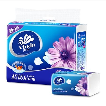 维达三层抽纸一提正品抽取式家用纸巾6包/装