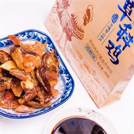 草科鸡肉干多口味肉类小零食80gX4袋