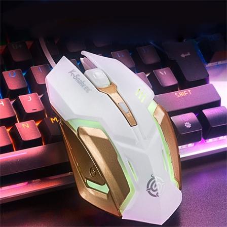 有线电竞鼠标电脑游戏外设磨砂发光鼠标
