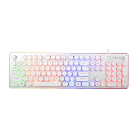 复古炫彩背光机械手感键盘办公家用键盘